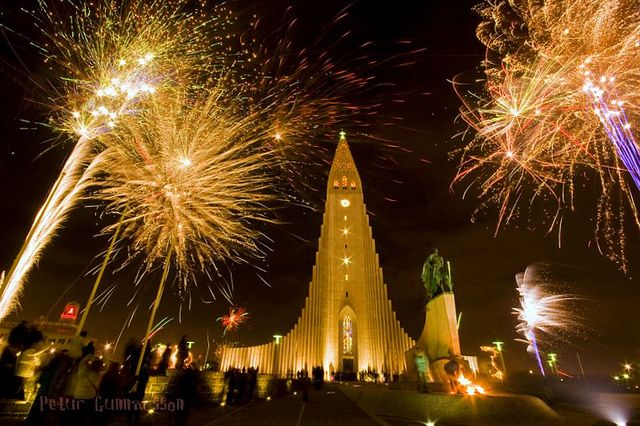 Celebrating New Year 2017-2018 in Iceland