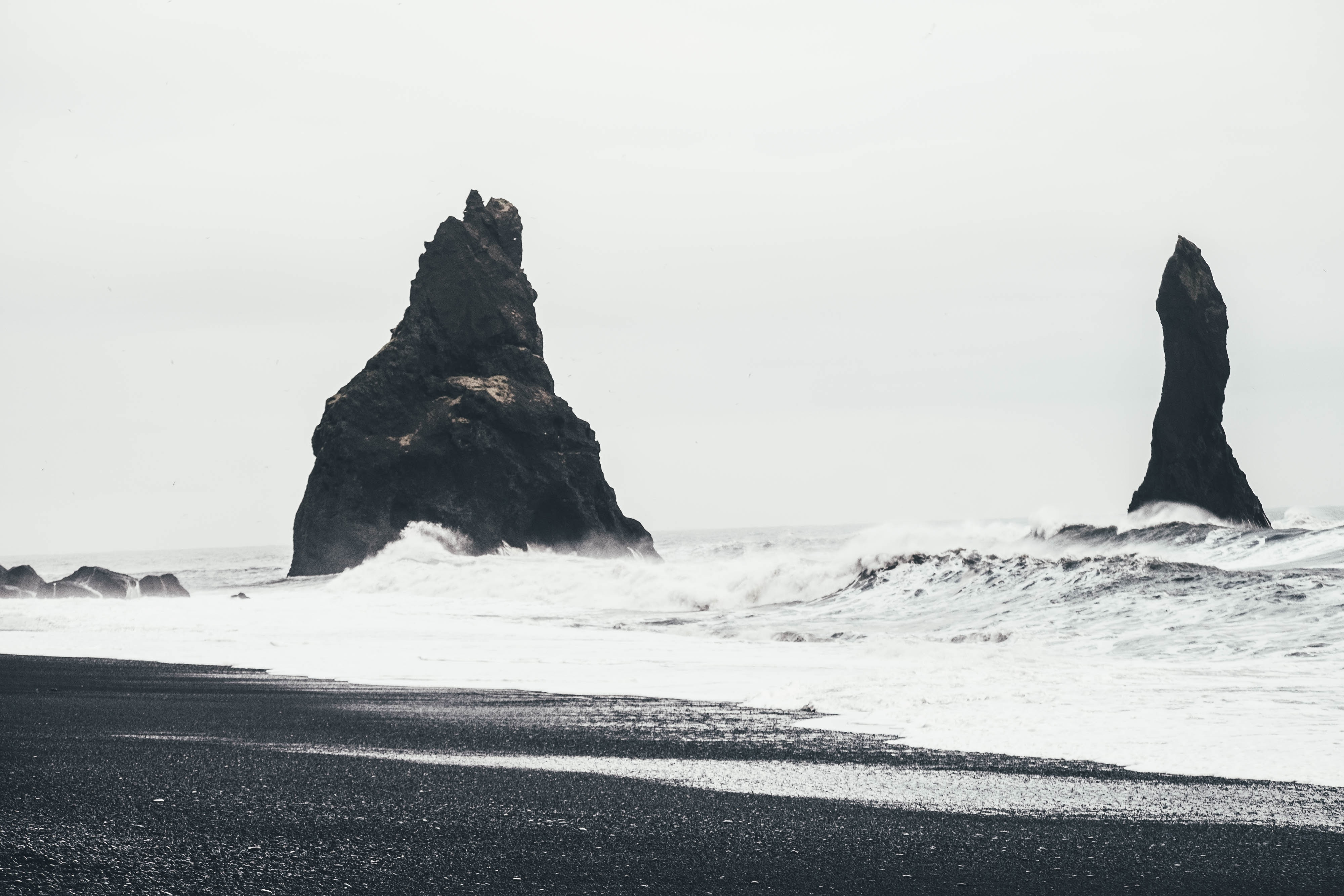 Black Sand beach in south Iceland