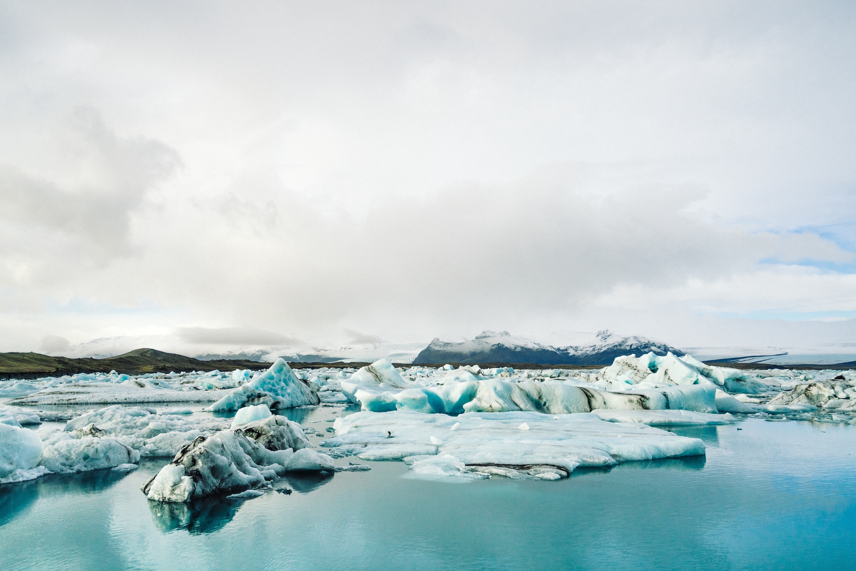 Glacier Lagoon in south of Iceland